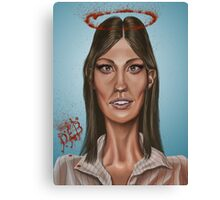 """Deb"" - Jennifer Carpenter's Caricature  Canvas Print"