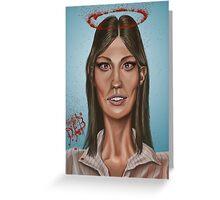 """Deb"" - Jennifer Carpenter's Caricature  Greeting Card"