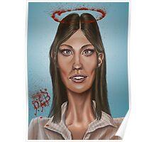 """Deb"" - Jennifer Carpenter's Caricature  Poster"