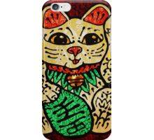'Shiny Lucky Cat' iPhone Case/Skin