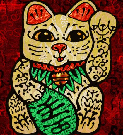 'Shiny Lucky Cat' Sticker