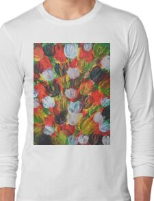 Explosion of Tulips Long Sleeve T-Shirt