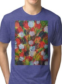 Explosion of Tulips Tri-blend T-Shirt