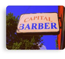 Capital Barber Canvas Print