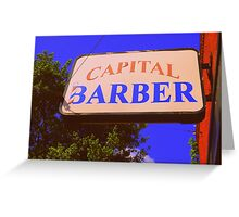 Capital Barber Greeting Card