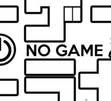 No Game No Life Logo ~ White Sticker