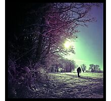The lonely winter walker Photographic Print