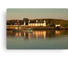 Islay: Port Ellen Harbour Dusk Canvas Print
