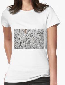 Snow Shrub Womens Fitted T-Shirt