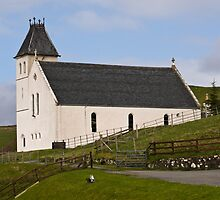 Free Church of Scotland, Uig, Isle of Skye, Scotland. by Hugh McKean