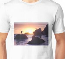 Meanwhile, in Malibu. Unisex T-Shirt