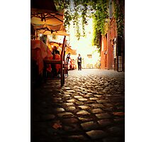 Cafe walk Photographic Print