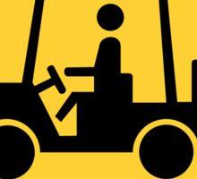 Golf Cart Crossing Yellow Diamond Warning Sign Die Cut Sticker Sticker