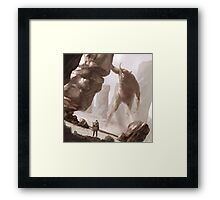 The last colossus Framed Print