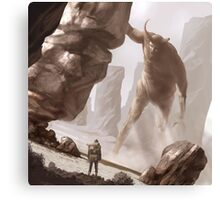 The last colossus Canvas Print