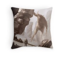 The last colossus Throw Pillow