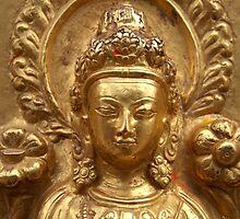 Gilded Buddha Image Swayambhu by SerenaB