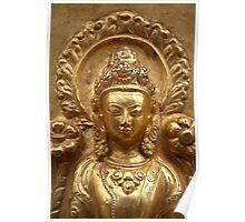 Gilded Buddha Image Swayambhu Poster