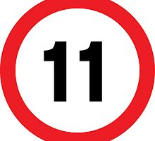 Speed Limit 11 Road Sign by ukedward