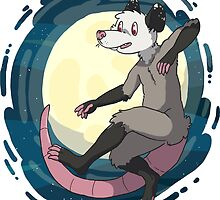 Opossum In Space by Clair C