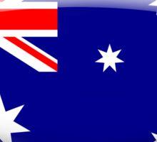 Australia Flag Glass Oval Die Cut Sticker Sticker