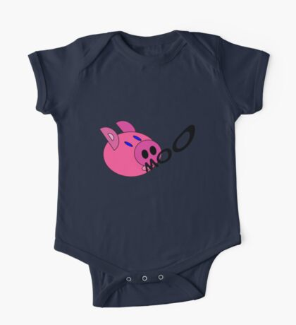 Kids Confused pig One Piece - Short Sleeve