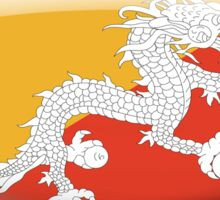 Bhutan Flag Glass Oval Die Cut Sticker Sticker