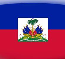 Haiti Flag Glass Oval Die Cut Sticker Sticker