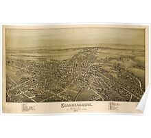 Panoramic Maps Chambersburg Pennsylvania burned by rebel cavalry July 30th 1864 Poster