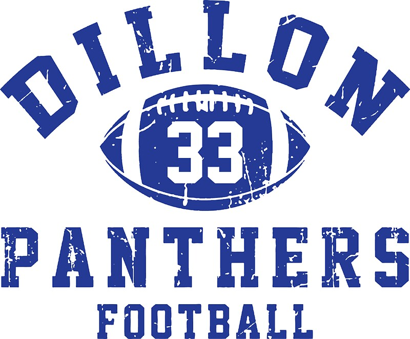 Dillon Panthers Football Logo