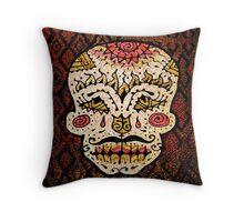 'Sweet Sugar Skull #2' Throw Pillow