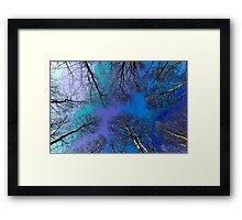 English Forest Trees Digital art Framed Print