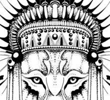 Indian Wolf Headdress Sticker