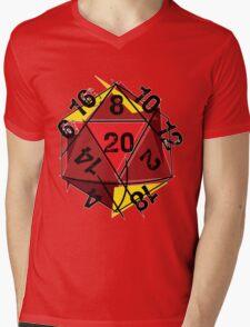 Abstracted D20 Mens V-Neck T-Shirt