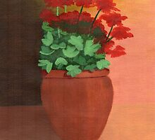 A Pot of Geraniums by BAVVY