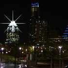 Austin Night Skyline by Cathy Jones