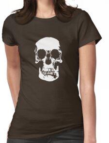 221b Baker Street Skull Womens Fitted T-Shirt
