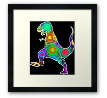 T. Rex Fireworks Framed Print