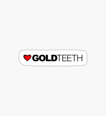 Love Gold Teeth Sticker