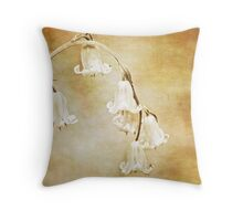 textured bluebell archway Throw Pillow