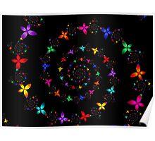 Vortex of Flowers Poster