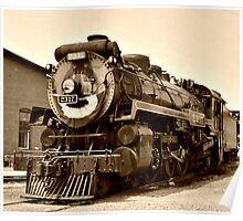 Historic Way to Travel - Big Boy Steam Engine Poster