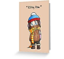 Winter Wooly Greeting Card