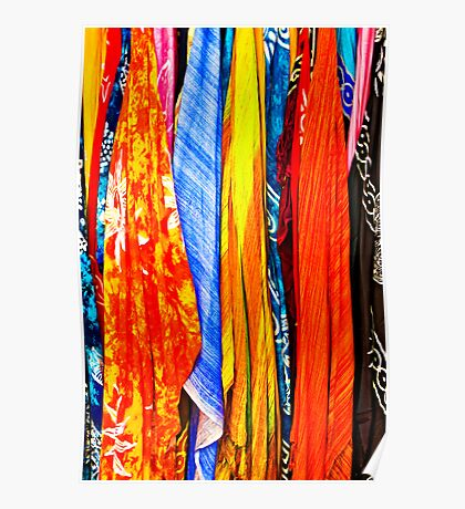 colourful scarves for sale Poster