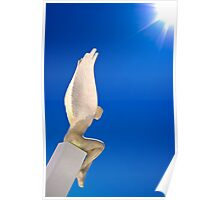 Santorini Angel Poster