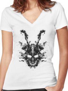 Imaginary Inkblot- Donnie Darko Shirt Women's Fitted V-Neck T-Shirt