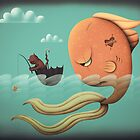 Big Fish, Little Fish, Cat in a Brolly by ScarlettVeith