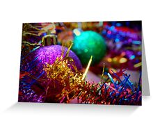 Christmas Baubles II Greeting Card