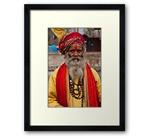 Holy Man In Yellow Framed Print