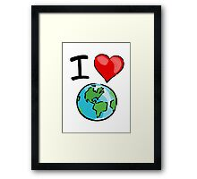 I heart earth Framed Print